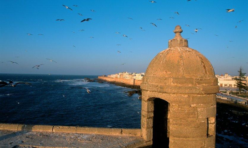 Vue sur Essaouira depuis la sqala du port.