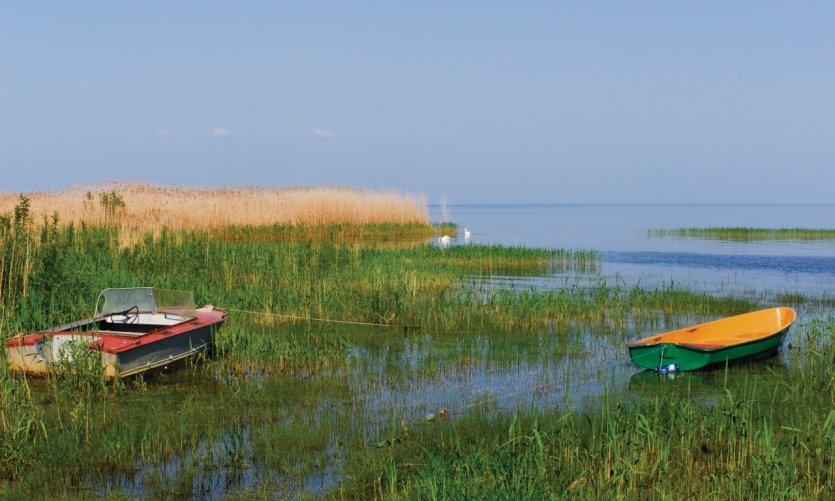 Lac Peipsi en direction de Mustvee.