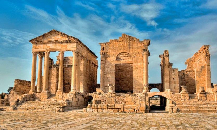 Ruines romaines de Sbeïtla.