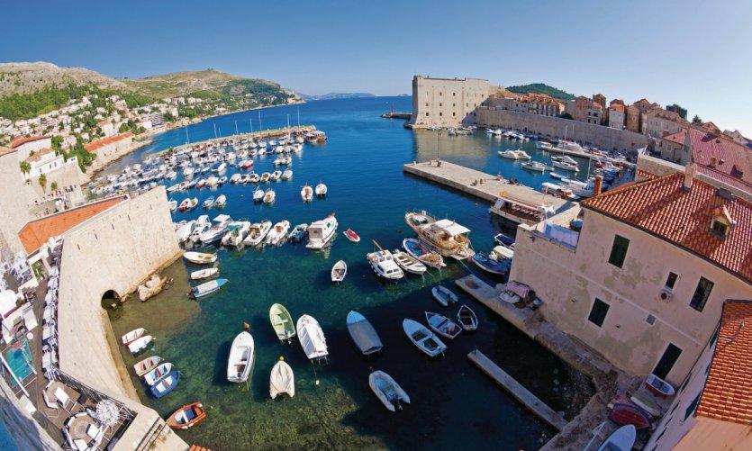 Vieux port de Dubrovnik.