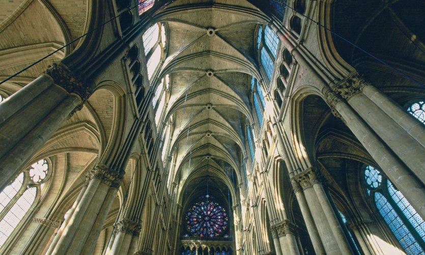 Voûte gothique de la cathédrale de Reims