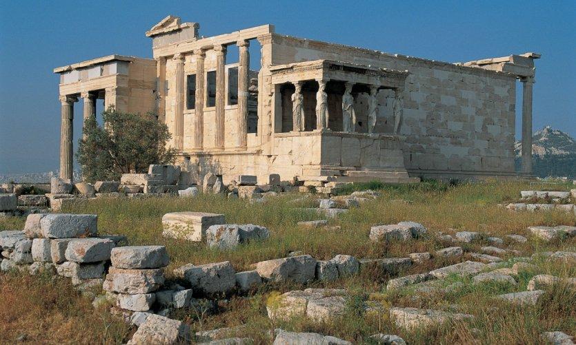 L'Erechtheion de l'Acropole.