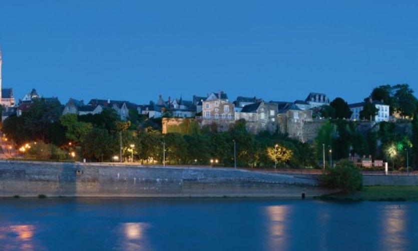 Panorama de la ville d'Angers.