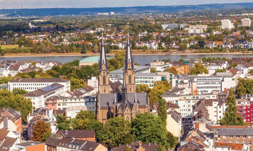 Vue sur la ville de Bonn.