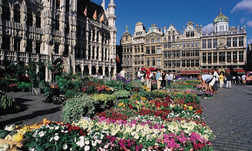 Le marché aux fleurs sur la Grand-Place.