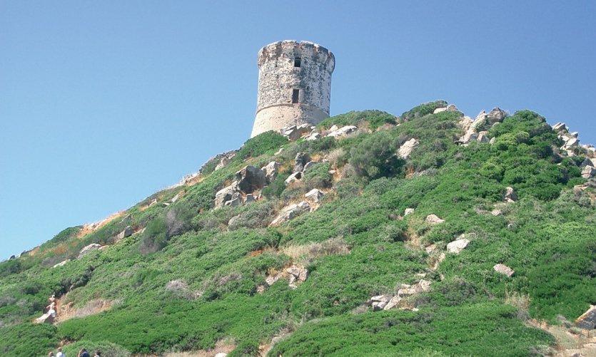 La tour génoise de la Parata à Ajaccio