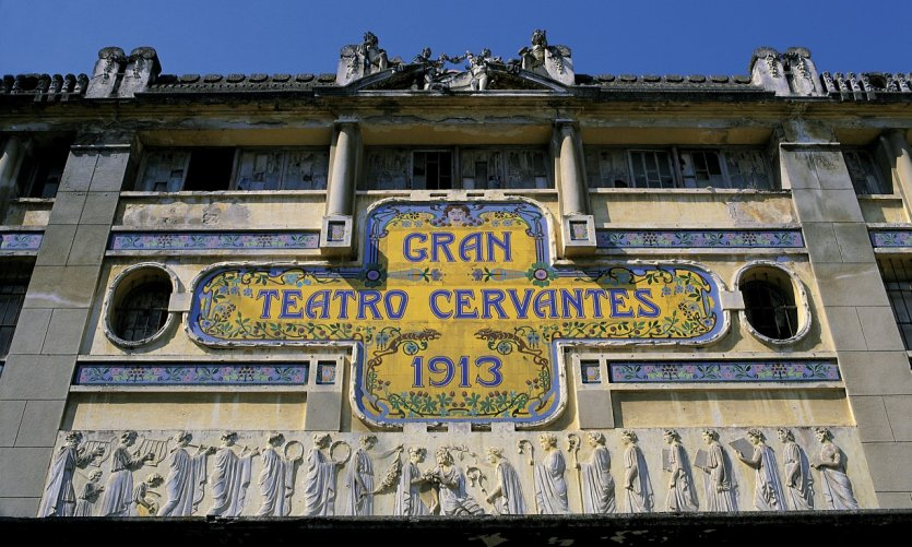 Façade du Gran Teatro Cervantes.