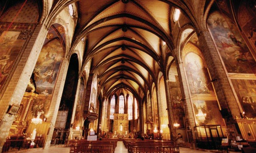 Nef de la cathédrale Saint-Jean-Baptiste de Perpignan