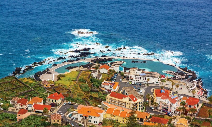 View of Porto Moniz and its natural pools.