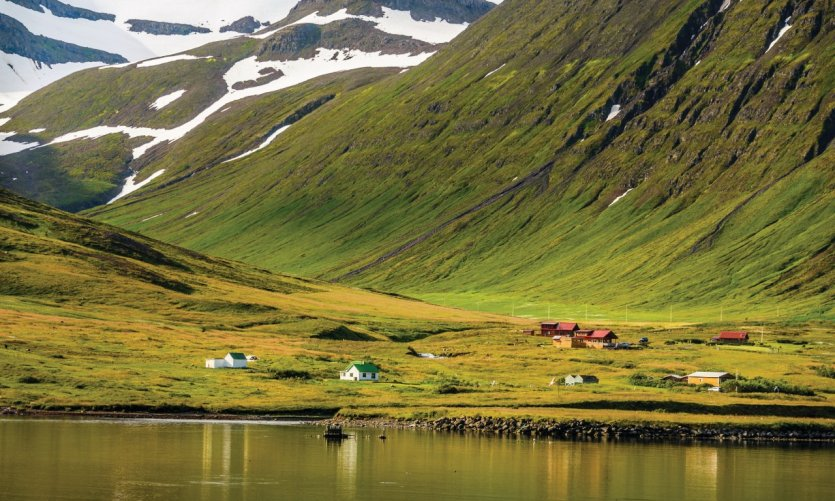 Paysage de l'Islande du Nord.
