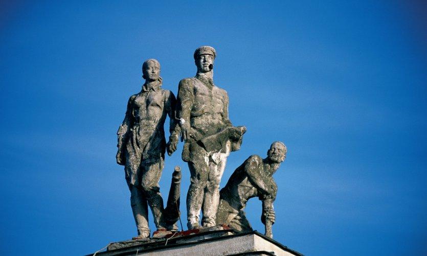 Bataille de la Moskova, statue de soldats de l'Armée Rouge.