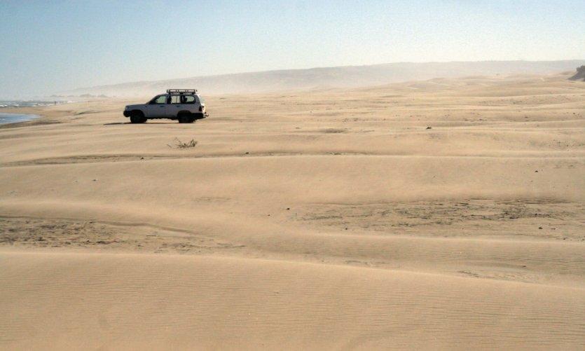 Un décor atypique de désert saharien, les dunes du lac Anony, près d'Amboasary, entre Ambovombe et Fort Dauphin
