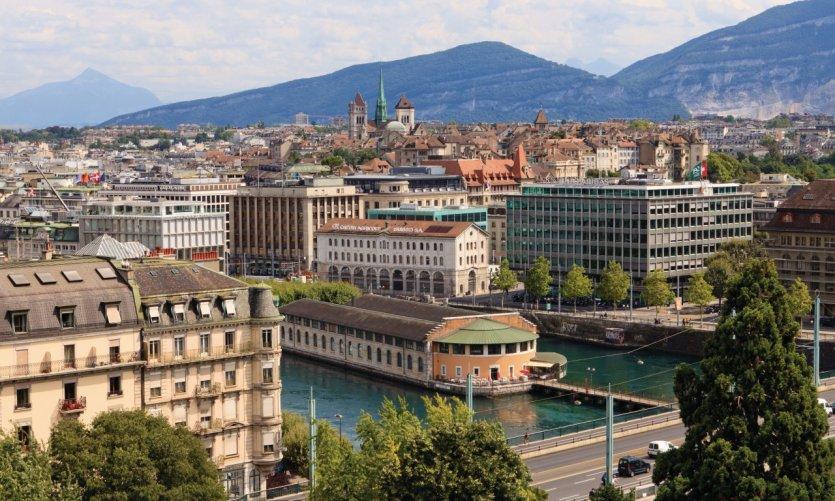 Vue sur Genève.