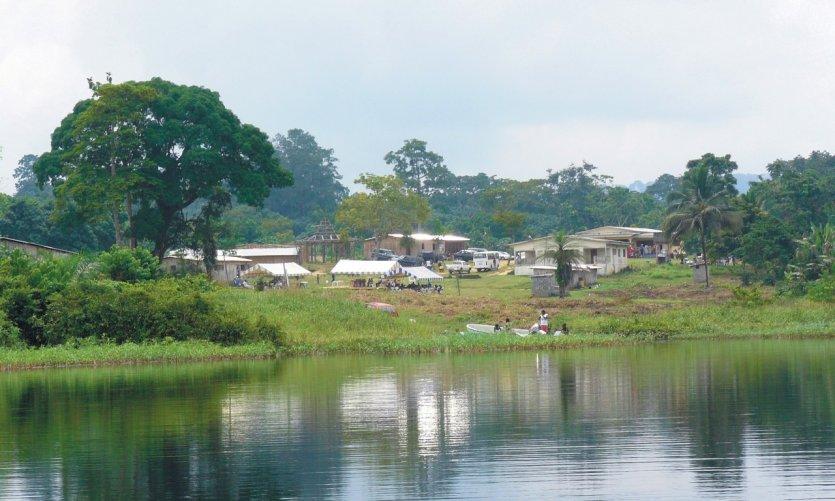 Lac Zilé (village de Saint-Martin).