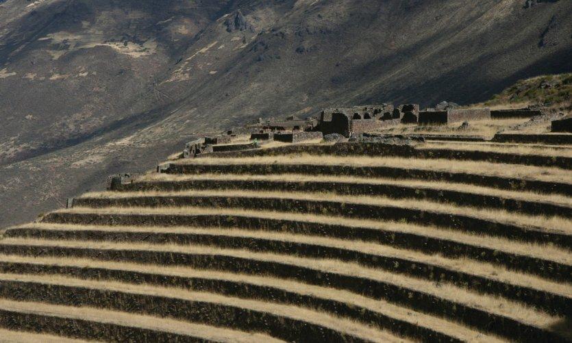 Terrasses du site inca de Písaq.