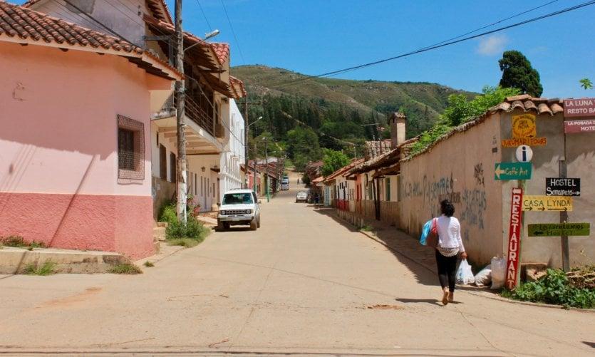 <p>Las calles tranquilas de Samaipata.</p>