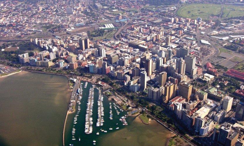 Vue aérienne de Durban