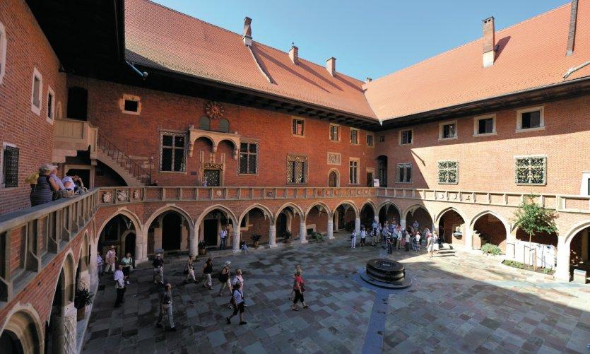 Cour intérieure du Collegium Maius.
