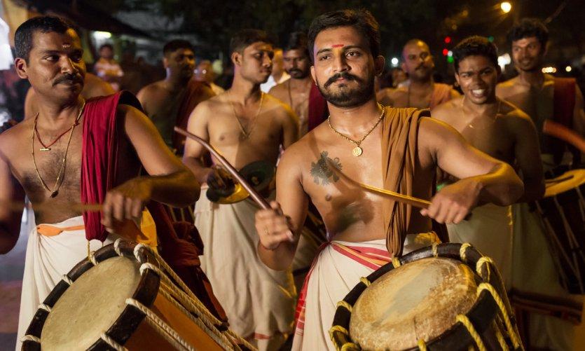 Musiciens de Kochi.