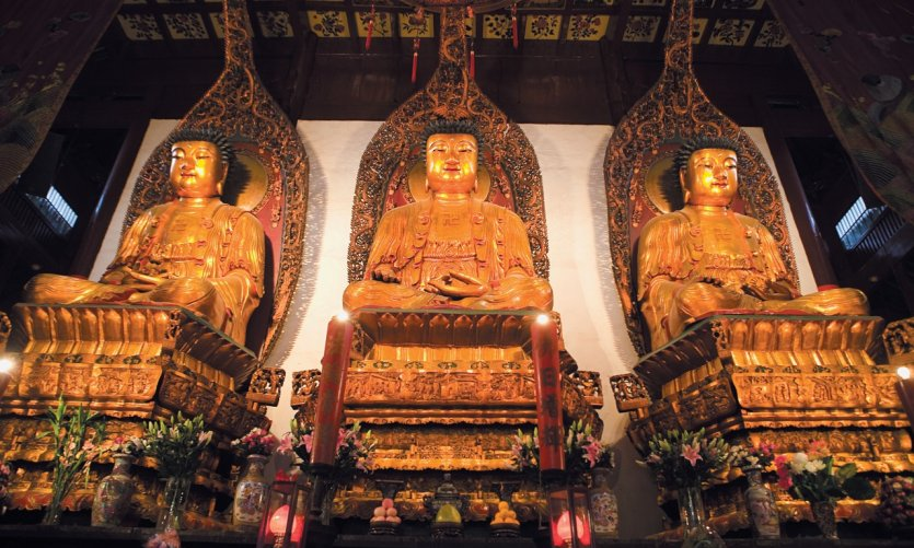 The major Chinese religions in Shanghai