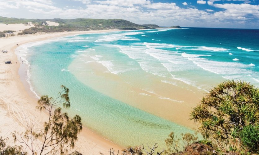 <p>Fraser Island Beach.</p>