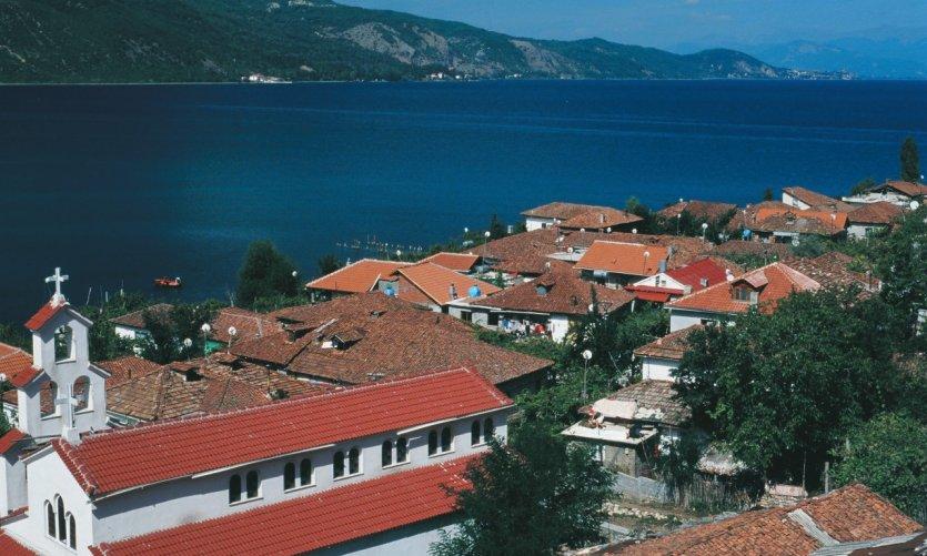 Village de pêcheurs sur les rives du lac d'Ohrid.