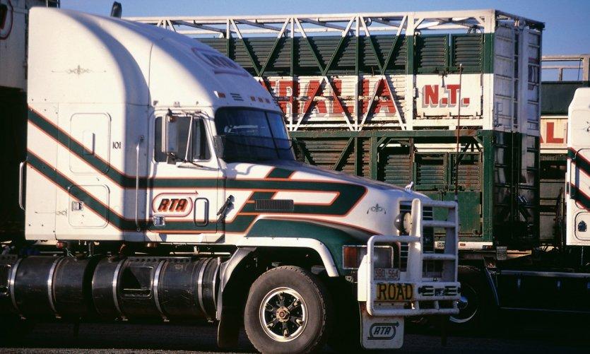 Camions sur la Darwin Road.