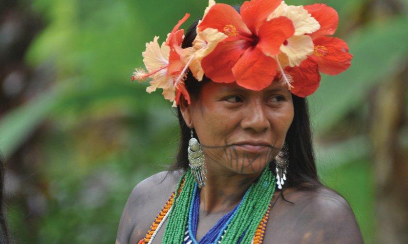 Inmersión amerindia en Panamá
