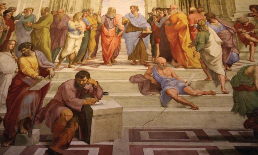 Chambre de la Signature, l'une des chambres de Raphaël, musées du Vatican.