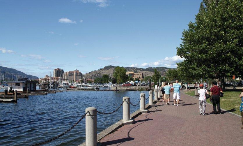 Le City Park à l'entrée de Kelowna, sur la rive du Lac Okanagan.
