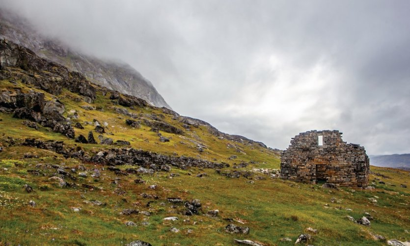 Eglise de Hvalsey, magnifique ruine viking au sud du pays dans les environs de Qaqortoq.
