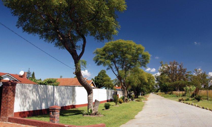Queensdale, quartier résidentiel d'Harare.