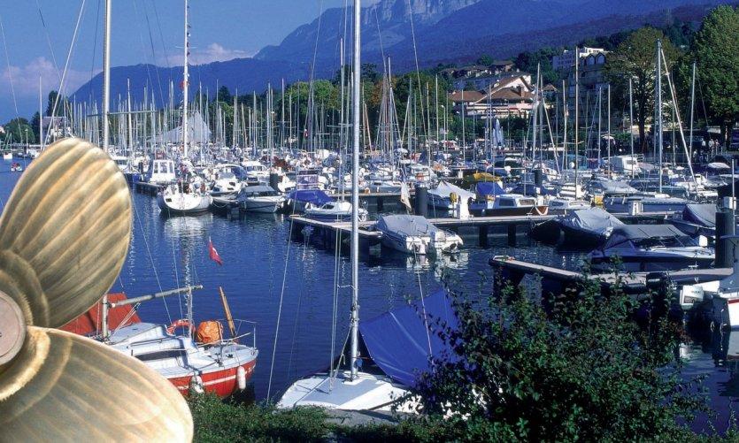 Le port de plaisance d'Evian-les-Bains