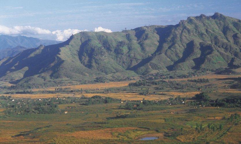 Paysage du nord du Viêt Nam.