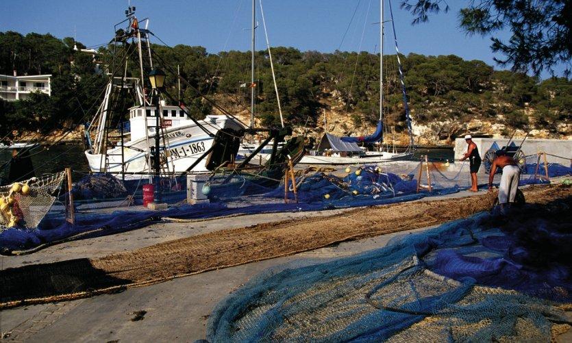 Port de pêche de Cala Santanyi.