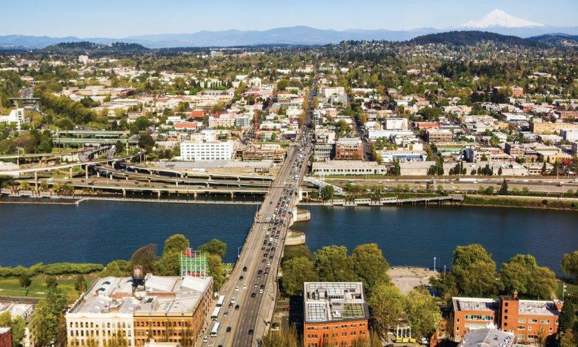Vue sur Portland.