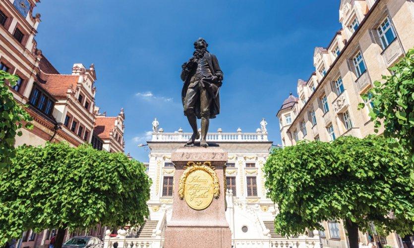 Statue de Goethe à Leipzig.