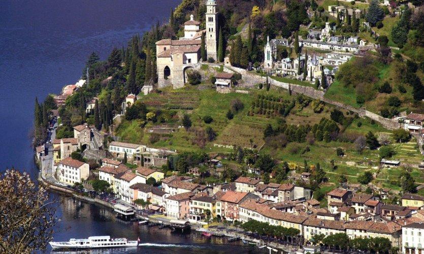 Morcote sur le lac de Lugano.