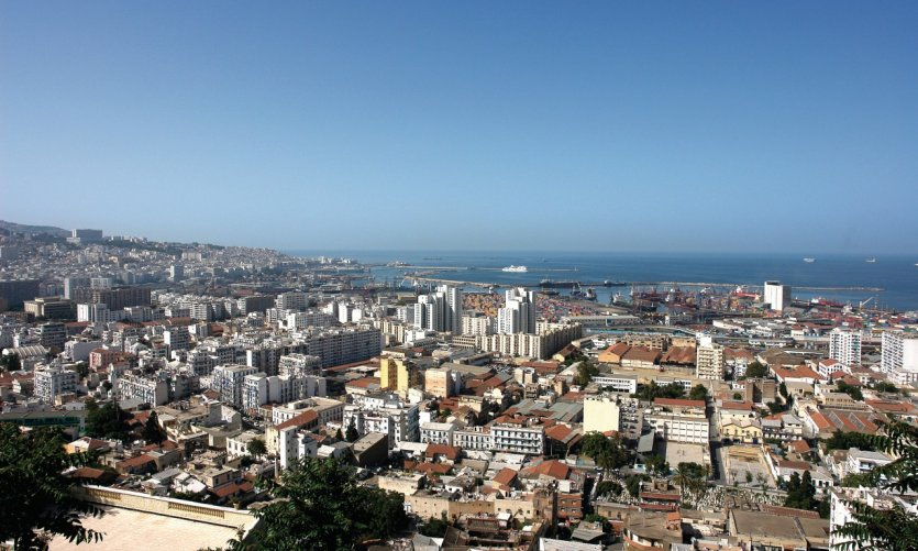 View of the city of Algiers.