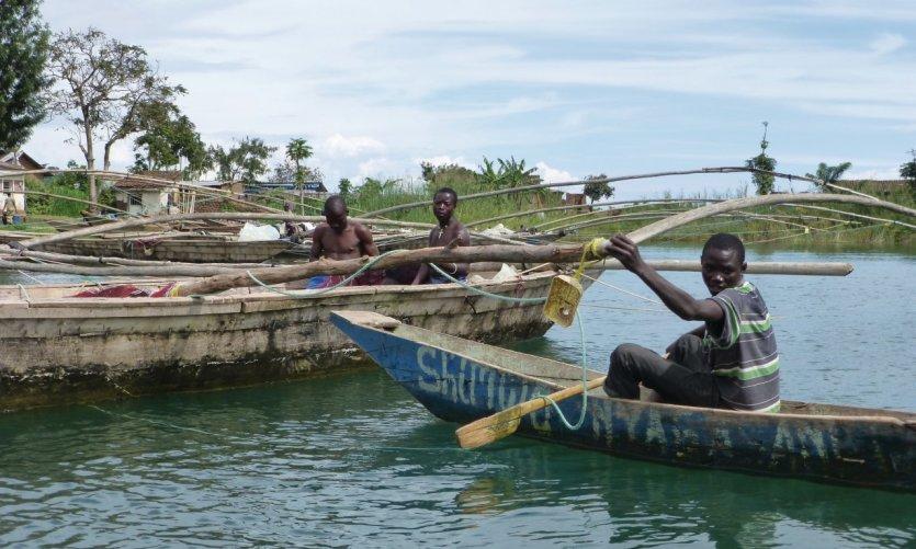 Pêcheurs sur le lac Kivu.