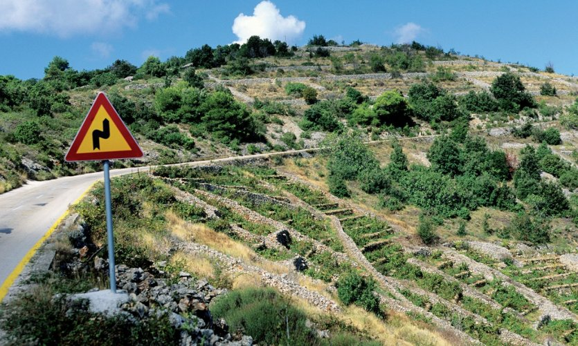 Route de l'île de Hvar.