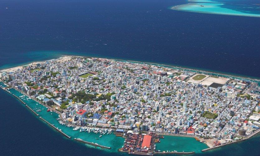 Vue aérienne de Malé.