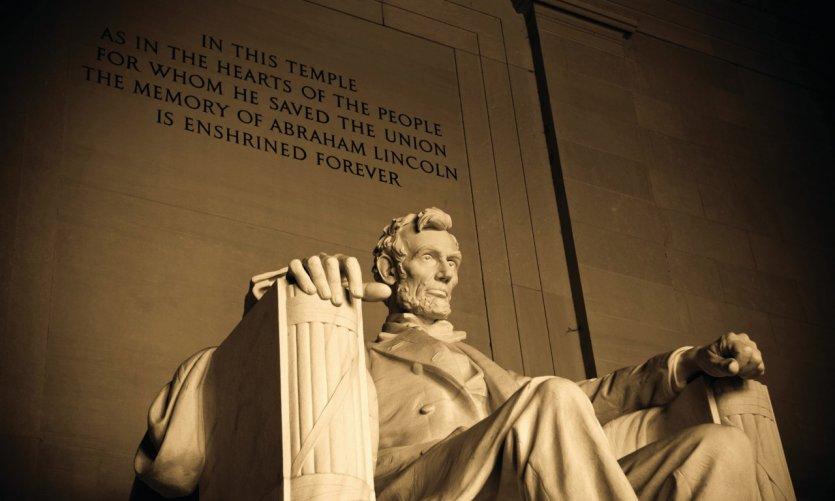 Statue du Mémorial Lincoln à Washington.