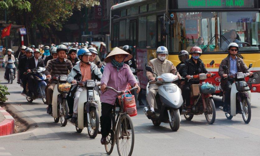 Circulation dans Hanoi.