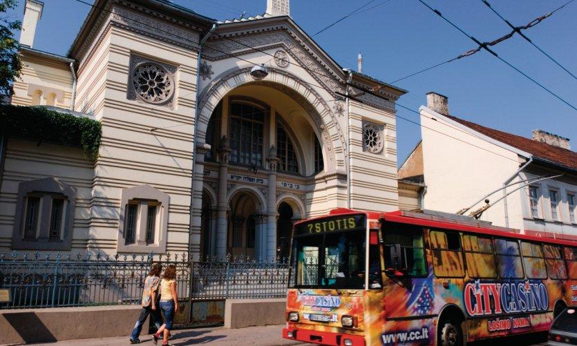 <p>La synagogue chorale de Vilnius située rue Pylimo.</p>