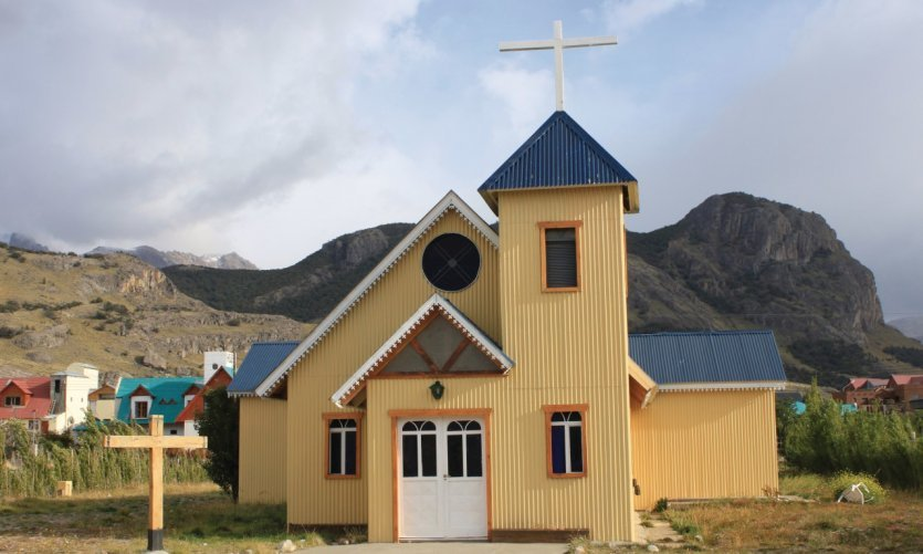 <p>The beautiful church of El Chaltén.</p>