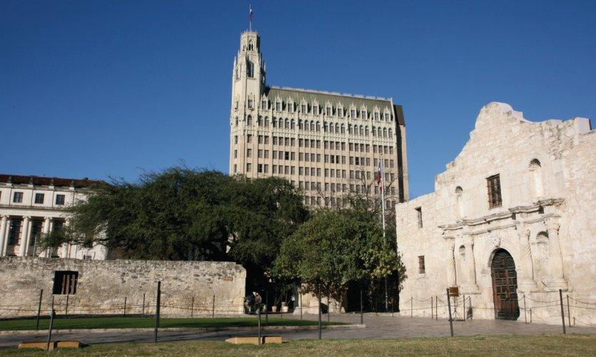 El Fuerte Álamo, lugar de la batalla por la independencia de Texas.