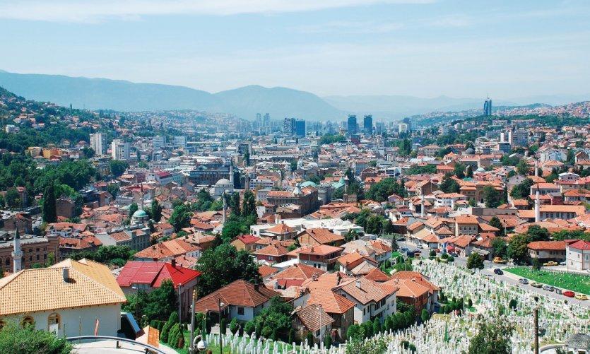 Vue sur Sarajevo depuis le fort.