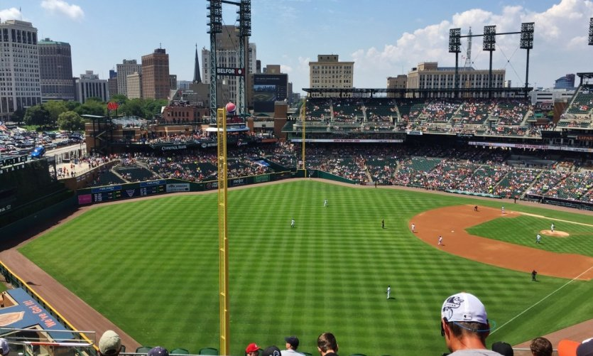 Match de baseball des Tigers de Detroit.