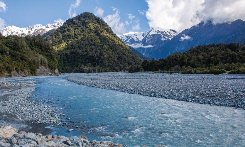 Sur la route du Glacier Franz Josef.